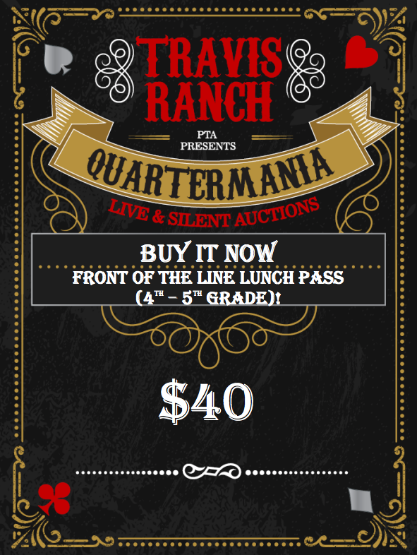 Front Of Line Pass For Hot Lunches (4th-5th Grade)
